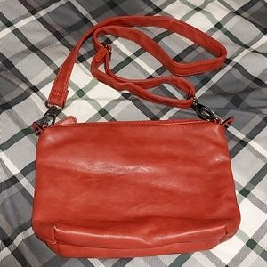 3/$20 Red Leather Crossbody by Denver Hayes